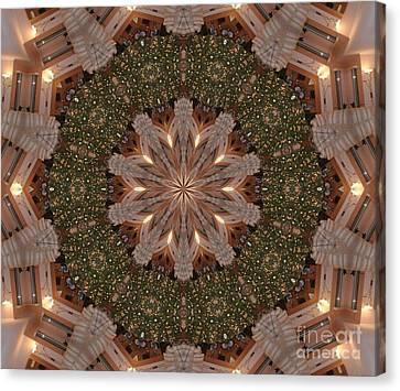 Christmas Wreath Canvas Print by Lena Photo Art