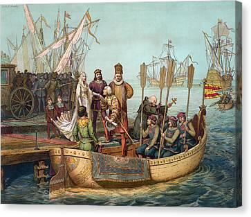 Christopher Columbus (1451-1506) Canvas Print by Granger