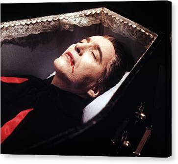 Christopher Lee In Dracula  Canvas Print by Silver Screen