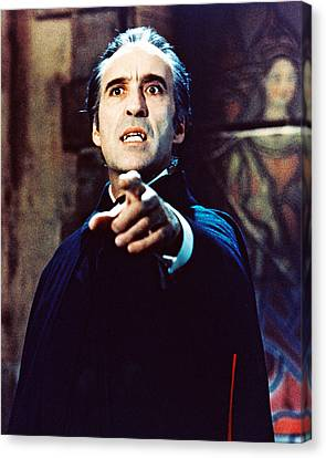 Christopher Lee In Taste The Blood Of Dracula  Canvas Print by Silver Screen