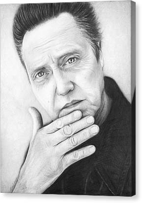Christopher Walken Canvas Print by Olga Shvartsur