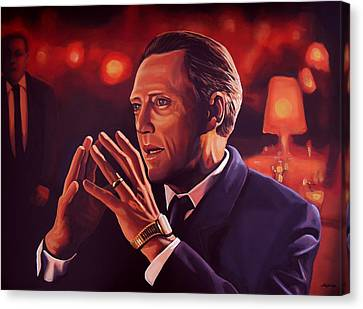 Christopher Walken Painting Canvas Print by Paul Meijering