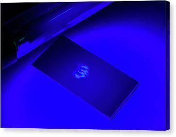Chromatogram Under Uv Light Canvas Print by Trevor Clifford Photography