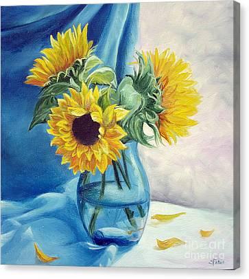 Chrysanthemums Canvas Print by Sorin Apostolescu
