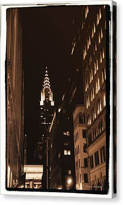 Chrysler Building Canvas Print by Donna Blackhall