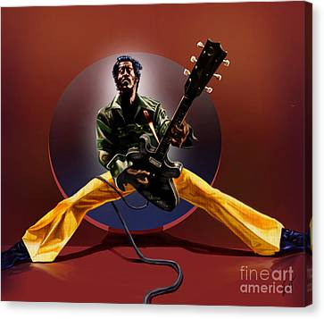 Chuck Berry - This Is How We Do It Canvas Print by Reggie Duffie