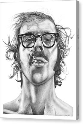 Chuck Close Canvas Print by Kalie Hoodhood
