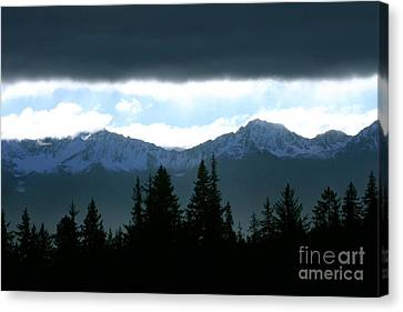 Chugach Mountains Canvas Print by Crystal Magee