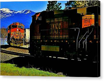 Chugging Past Canvas Print by Benjamin Yeager