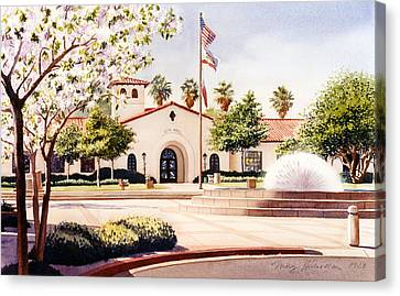 Chula Vista City Hall Canvas Print by Mary Helmreich