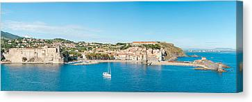 Church And Castle In A Town, Chateau Canvas Print by Panoramic Images