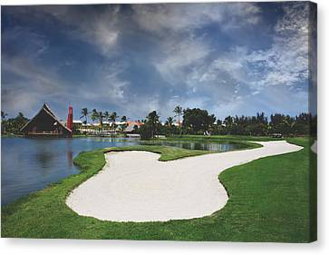 Church And Golf Canvas Print by Laurie Search