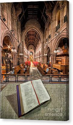 Church Bible Canvas Print by Adrian Evans