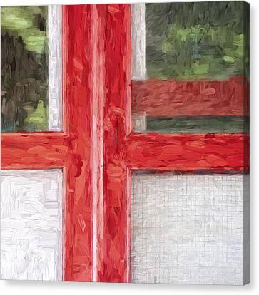 Church Camp House Detail Painterly Series 11 Canvas Print by Carol Leigh