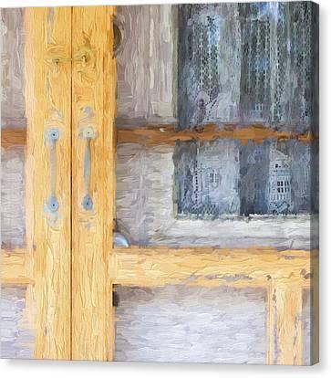 Church Camp House Detail Painterly Series 14 Canvas Print by Carol Leigh