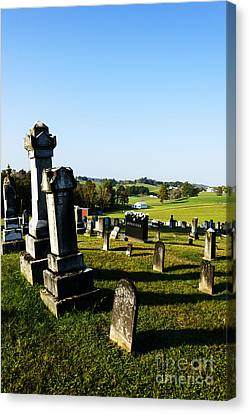 Church Cemetery Canvas Print by Thomas R Fletcher
