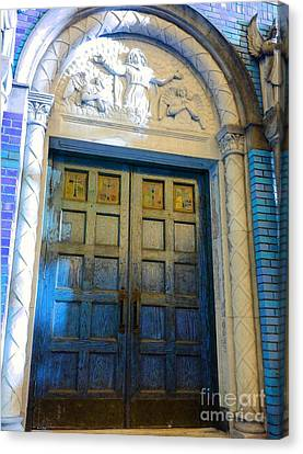 Church Door II Canvas Print by Becky Lupe