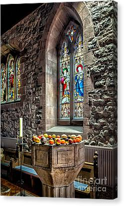 Church Fruits Canvas Print by Adrian Evans