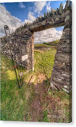 Church Gate Canvas Print by Adrian Evans