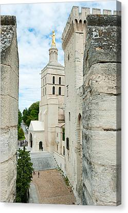 Church In A City, Cathedrale Notre-dame Canvas Print by Panoramic Images