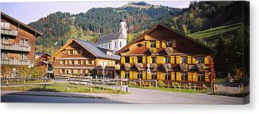 Church In A Village, Bregenzerwald Canvas Print by Panoramic Images