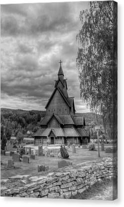 Church In Rural Norway Canvas Print by Mountain Dreams