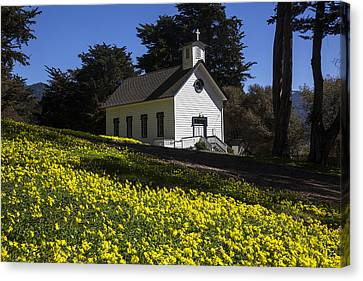 Church In The Clover Canvas Print by Garry Gay