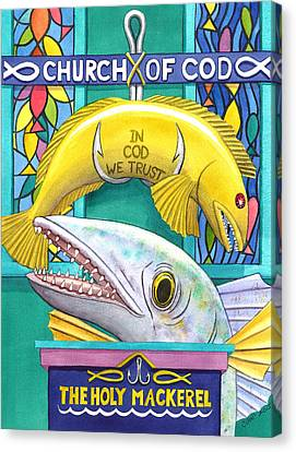 Church Of Cod Canvas Print by Catherine G McElroy