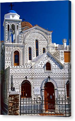 Church Of Geometric Pattern Canvas Print by Aiolos Greek Collections