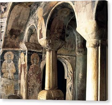 Church Of Saint Naum. Macedonia. Ohrid Canvas Print by Everett
