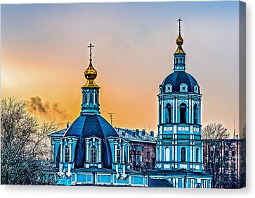 Church Of Saint Nicholas Canvas Print by Alexander Senin