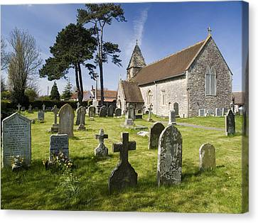 Church Of St John The Evangelist - Kenn - North Somerset Canvas Print by Rachel Down