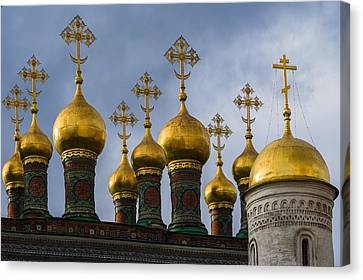 Church Of The Nativity Of Moscow Kremlin Canvas Print by Alexander Senin