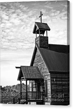 Church On The Mount In Black And White Canvas Print by Lee Craig