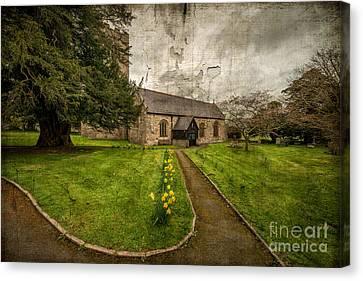 Church Path Canvas Print by Adrian Evans