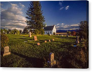 Church Potlatch Idaho 1 Canvas Print by Mike Penney