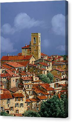 Cielo A Pecorelle Canvas Print by Guido Borelli