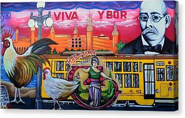 Cigar City Street Mural Canvas Print by David Lee Thompson