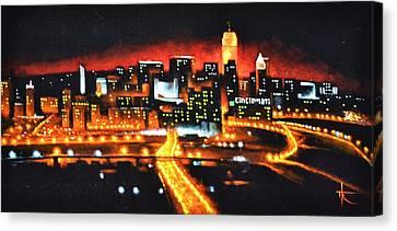 Cincinati Skyline Canvas Print by Thomas Kolendra