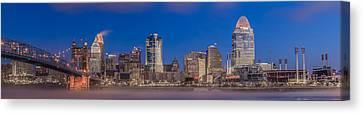 Cincinnati Morning Twilight Canvas Print by Keith Allen