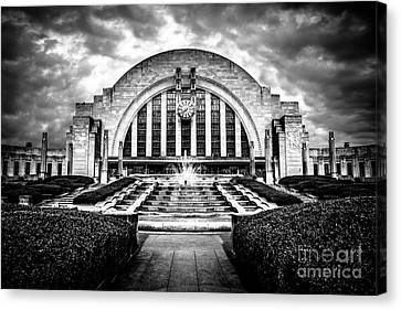 Cincinnati Museum Center Black And White Picture Canvas Print by Paul Velgos