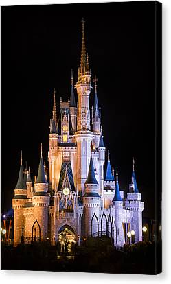 Cinderella's Castle In Magic Kingdom Canvas Print by Adam Romanowicz