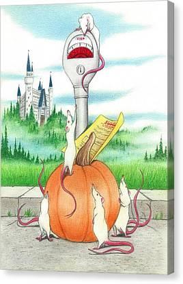 Cinderella's Mice Canvas Print by Bruce Lennon