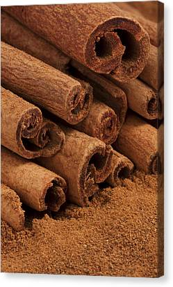 Cinnamon Sticks 2 Canvas Print by John Brueske