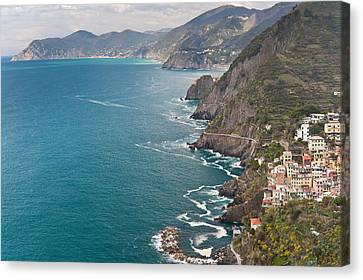 Cinque Terre Coast View Canvas Print by Mike Reid