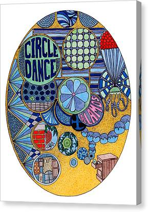 Circle Dance Canvas Print by Gregory Carrico