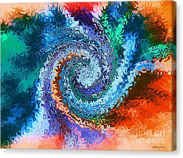 Circle Of Colors Abstract Art Canvas Print by Annie Zeno