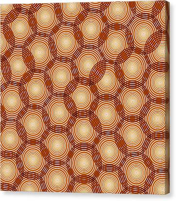 Circles Abstract Canvas Print by Frank Tschakert