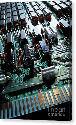 Circuit Board Canvas Print by Jerry McElroy