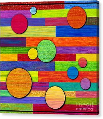 Circular Bystanders  Canvas Print by David K Small